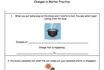 Changes in Matter Practice