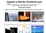 Changes in Matter Quiz