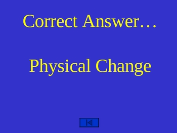 Changes in Matter Science Trivia Game