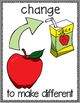 Changes in Matter Vocabulary Word Posters