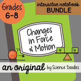 Changes in Force & Motion Interactive Notebook Doodle BUNDLE - Science Notes