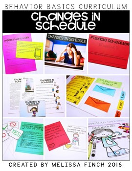 Changes in Schedules- Behavior Basics Program for Special Education