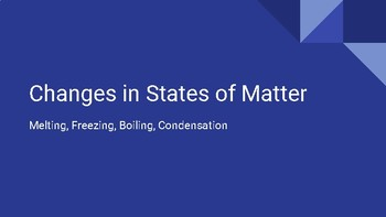Changes in State of Matter Slideshow