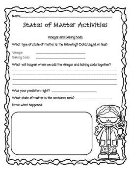 Changes in States of Matter Activities