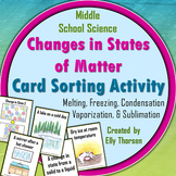 Changes in States of Matter Card Sorting Activity