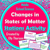 Changes in States of Matter Stations Activity