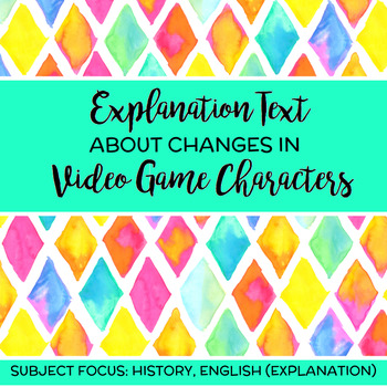Changes in Video Game Characters Explanation Text