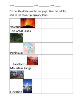 Changes in the Earth and Landforms