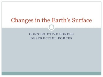Changes in the Earth's Surface Powerpoint