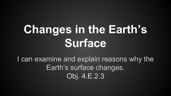 Changes in the Earth's Surfaces