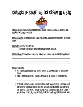Changes of State-Ice Cream in a Bag