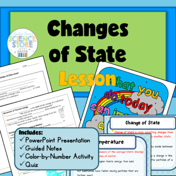 Changes of State Lesson