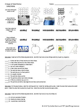 Changes of State Review Worksheet