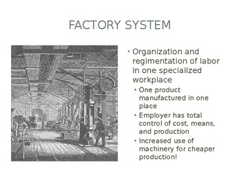 Changes of the Industrial Revolution