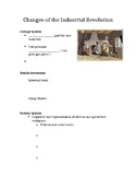 Changes of the Industrial Revolution Guided Notes