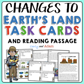 Changes to Earth's Land Task Cards