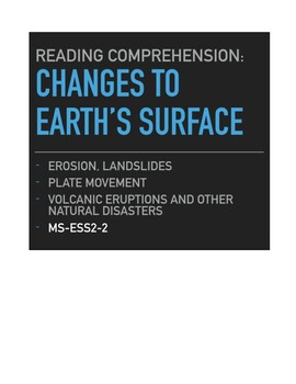 Changes to Earth's Surface: Fast and Slow, Local and Global