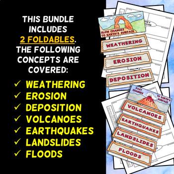 Changes to Earth's  Surface Foldables - Minibundle - Includes 2 Foldables