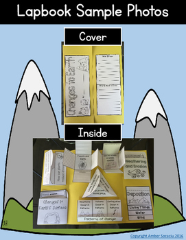 Changes to Earth's Surface Interactive Notebook or Lapbook