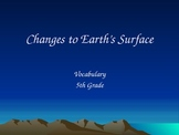 Changes to Earths Surface Vocabulary
