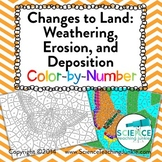 Changes to Land: Weathering, Erosion, and Deposition Color-by-Number