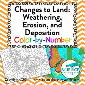 Changes To Land Weathering Erosion And Deposition Color By Number