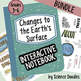 Weathering,Erosion & Deposition:Changes to the EARTH Interactive Notebook BUNDLE