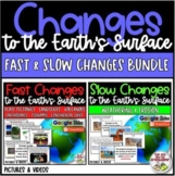 Science Changes to the Earth's Surface BUNDLE - Fast & Slo
