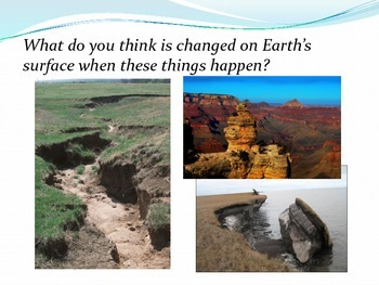 Changes to the Earth's Surface Fast or Slow PowerPoint