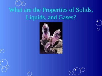 Changes to the State of Matter PowerPoint