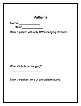 Changing Attributes and Pattern Core Worksheets