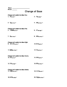Day 7 - Changing Base Worksheet *UPDATED 6/24/15*