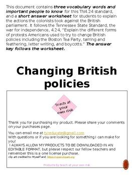 TN4.24 Changing British Policies