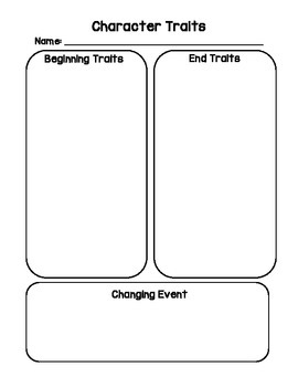 Changing Character Traits Graphic Organizer