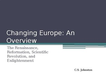 AP EURO/AICE EURO PROTESTANT REFORMATION, RENAISSANCE, SCIENTIFIC REVOLUTION
