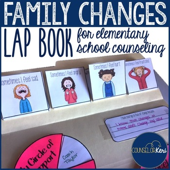 Family Changes Lap Book for Divorce and Separation Counseling
