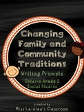 Changing Family and Community Traditions: Ontario Grade 2 Social Studies
