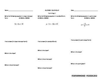 Changing Forms of Linear Equations - PP