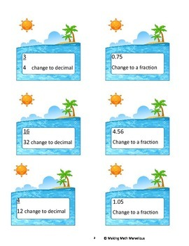 Changing Fractions to Decimals & Decimals to Fractions
