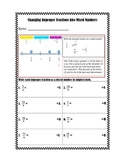 Changing Improper Fractions into Mixed Numbers Practice