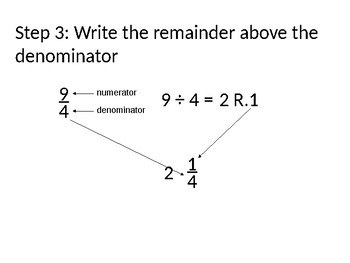 Changing Improper Fractions to Mixed Numbers PPT