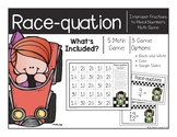 Changing Improper Fractions to Mixed Numbers Race-quation