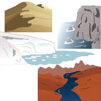 Changing Landforms Clip Art