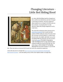 Evolving Literature - Little Red Riding Hood
