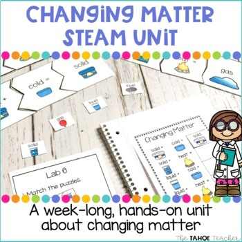 Changing Matter STEAM Unit   Science Stations for Primary Grades