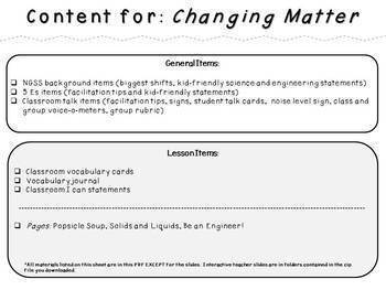 Changing Matter (Second Grade NGSS Lesson)
