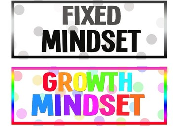 Changing Mindset Class Signs
