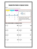 Changing Mixed Number into Improper Fractions Practice