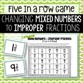 Changing Mixed Numbers to Improper Fractions Game