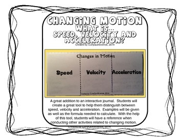 Changing Motion:  What is Speed, Velocity and Acceleration? Fold